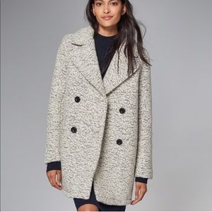 Abercrombie & Fitch grey marled wool peacoat
